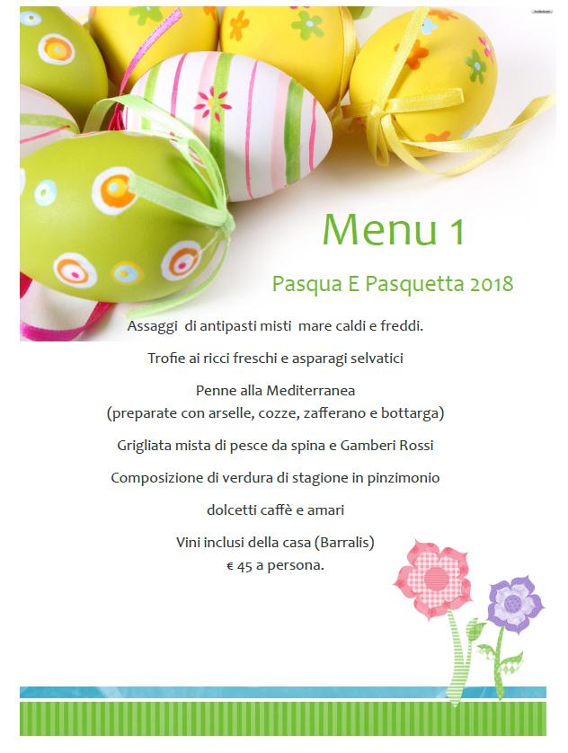 ristorante da paolo cagliari menu pasqua 2018